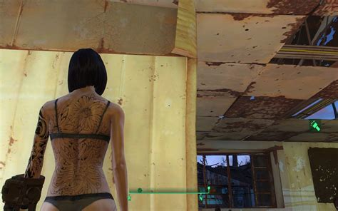 Skulls And Flower Tattoos - Fallout 4 / FO4 mods