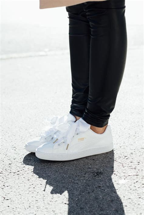 OUTFIT: Puma Basket Heart Sneakers - patent leather with a