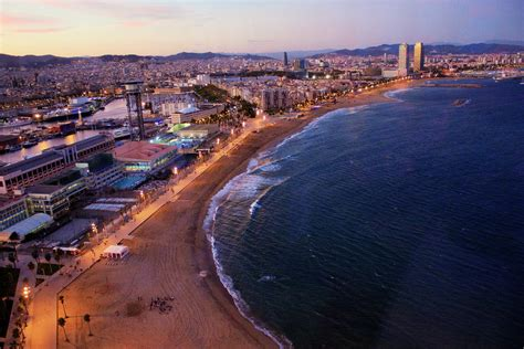 Barcelona Port Olimpic view from Hotel Vela   awesome