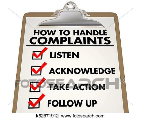 Clip Art of How to Handle Complaints Customer Service