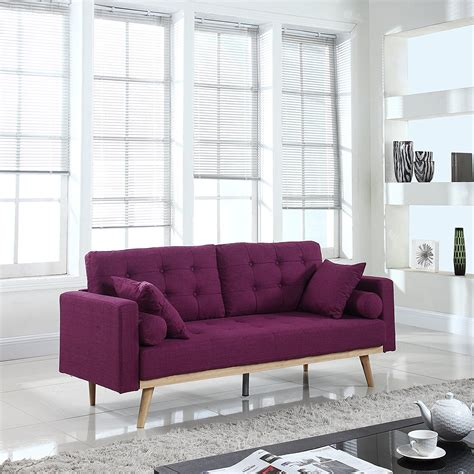 Furniture: Purple Loveseat For Contemporary Lifestyle