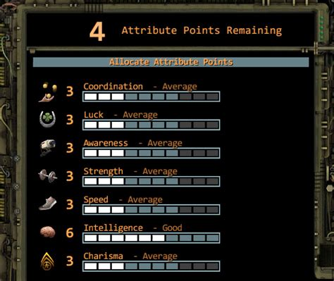 Character Attributes - Wasteland 2 | game-maps