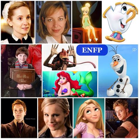 Another ENFP collage of characters :) | Enfp personality