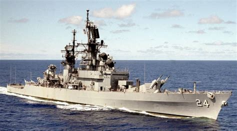 USS Reeves DLG CG 24 Leahy class guided missile cruiser US