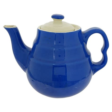 Blue & White Lid Teapot - Traditions