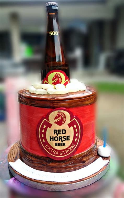 Red Horse Beer Themed Cake for Atty