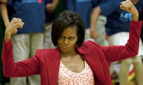 Michelle Obama 'leans in', just not in the direction