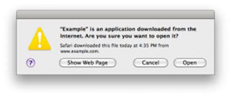 """Disable """"application downloaded from the internet"""" Message"""
