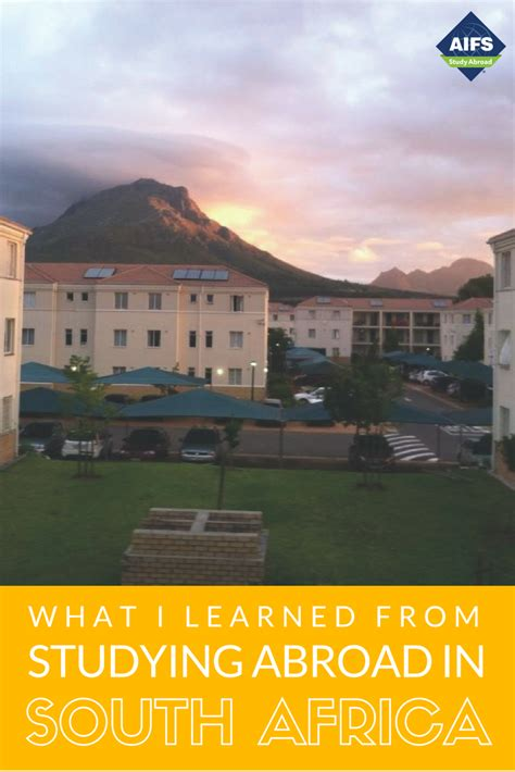 View of AIFS Study Abroad residences in Stellenbosch