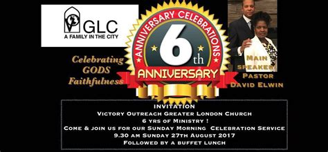 Victory Outreach Greater London Church Anniversary