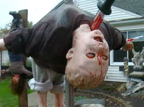 Woman Forced to Remove Scarily Realistic Halloween