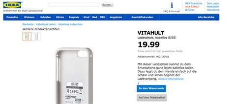 Qi – induktives Laden des iPhones – powered by Ikea