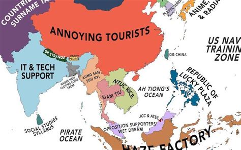 Somebody made a map of the world according to Singaporean