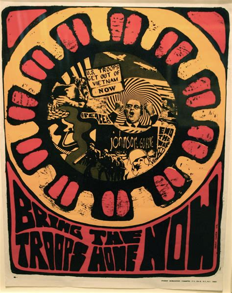 """""""Bring the Troops Home Now"""" Vietnam protest poster, Smiths"""